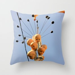 These Dolls Gave Great Head-s Throw Pillow