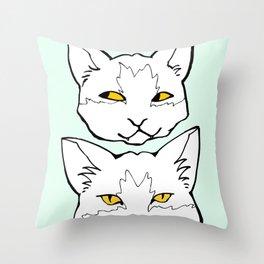 """Meow """"Color"""" Throw Pillow"""