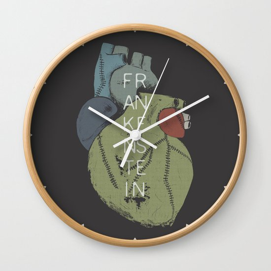 BOOKS COLLECTION: Frankenstein Wall Clock