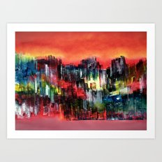 City of colour and lights Art Print