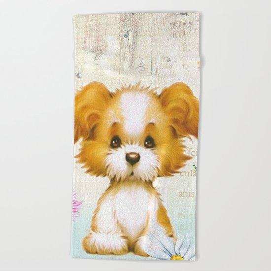 Sweet animal #3 Beach Towel