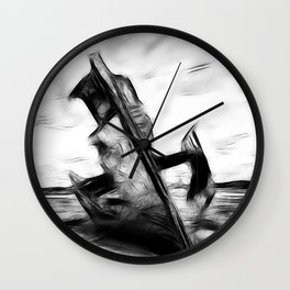Ghostly Wreck Wall Clock