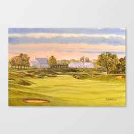 Whistling Straits Golf Course 9th And 18th Canvas Print