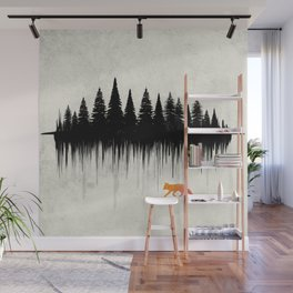 Dripping Forest Fox Wall Mural