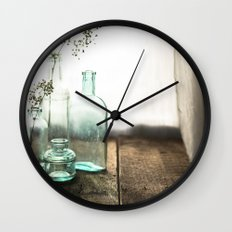 Memories in Bottles Wall Clock