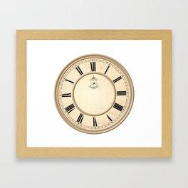 Classy Vintage Birdcage Decorative Clock Framed Art Print