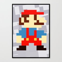 1up soda mario bros and gaming Canvas Print