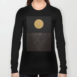 Moon Reflection on Quiet Ocean Long Sleeve T-shirt
