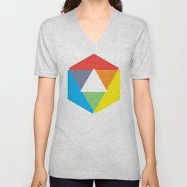 Color Wheel, design by Christy Nyboer Unisex V-Neck