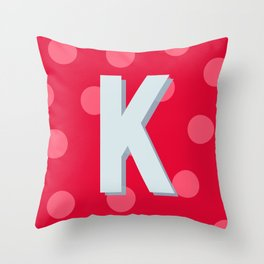K is for Kindness Throw Pillow