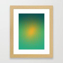Polka dots with a twist Framed Art Print