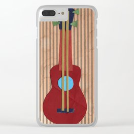 Paper Guitar - Collage 35 Clear iPhone Case