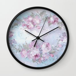 Crown Rose Wall Clock