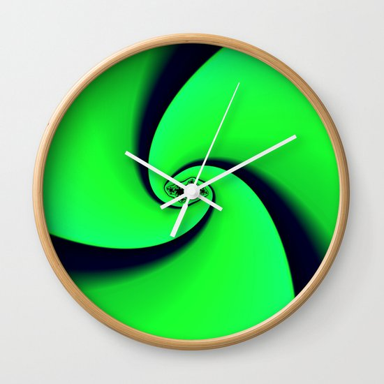Black and Green  Wall Clock