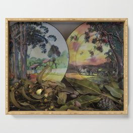 Gum Trees on English China Serving Tray