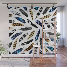 Bohemian Free Feather Wall Mural