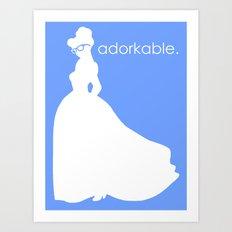 Adorkable Art Print