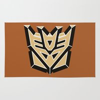 transformers Area & Throw Rugs featuring Transformers by FilmsQuiz