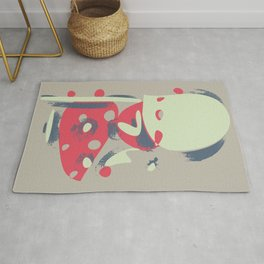 Contemporary style abstract painting. Funny colorful forms, cartoonish style Rug