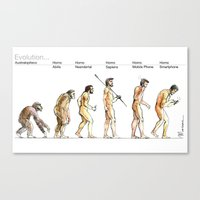 evolution Canvas Prints featuring Evolution... by Luca Massone