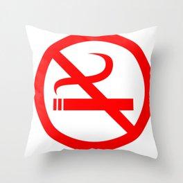 no smoking sign Throw Pillow