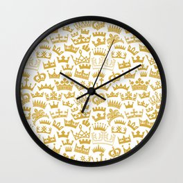 seamless pattern with crown Wall Clock