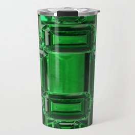 Emerald Gems May Babies Birthstones on Purple Travel Mug