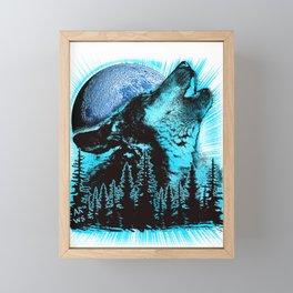 Howling Wolf Framed Mini Art Print