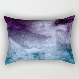 Watercolor and nebula abstract design Rectangular Pillow
