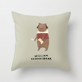 William Shakesbear Throw Pillow