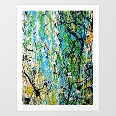 Echoed Splatter Art Print