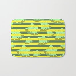 Christmas bells and stripes Bath Mat