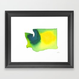 Washington Green Framed Art Print