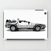 delorean iPad Cases featuring Delorean Low poly by Angel Decuir