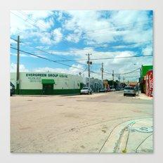 STREETART SILL LIFE - MIAMI by Jay Hops Canvas Print