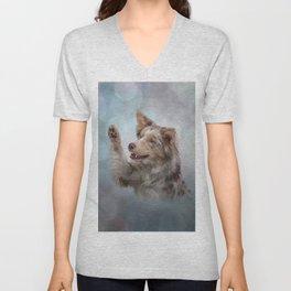 Drawing Dog breed Border Collie Unisex V-Neck