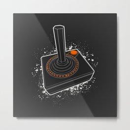 Atari Joystick (W) Metal Print