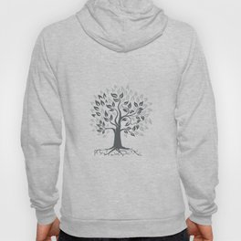 Stylized Oak Tree with Roots Retro Hoody