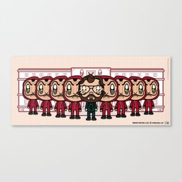 Super Cute Casa De Papel | FanArt Canvas Print