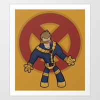 cyclops Art Prints featuring Cyclops by Twisted Dredz
