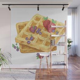 Waffles Wall Mural