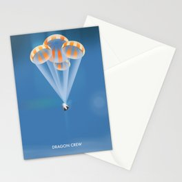 Dragon Crew Space Art Stationery Cards