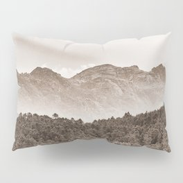 The mountain beyond the forest Pillow Sham