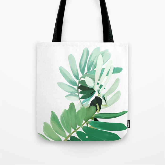 green plant leaves Tote Bag
