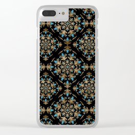 Turkish tulip - Ottoman tile pattern 14 Clear iPhone Case