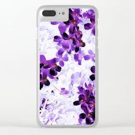 Invert Clematis Design Clear iPhone Case