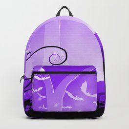 Dark Forest at Dawn in Amethyst Backpack