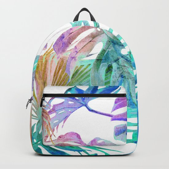 Simply Palm Leaves in Hologram Island Backpack