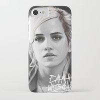 emma watson iPhone & iPod Cases featuring Emma Watson Portrait by Jeremy Snow Illustration
