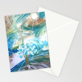 Glowing Tree Stationery Cards